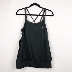 Head Black Tank top with built in bra in Large